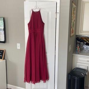 azazie Junior bridesmaid dress burgundy / maroon